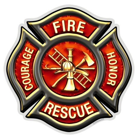 Collectible Firefighter Decals (4in,2pack), Share your Appreciation and Support with our Vinyl Classic Fire Maltese Stickers for your Home, Car, Cases and more, Souvenir Gifts for Firefighter