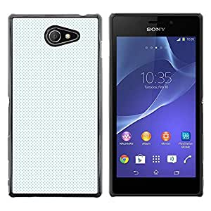 CASEMAX Slim Hard Case Cover Armor Shell FOR Sony Xperia M2- WHITE DOTS PATTERN