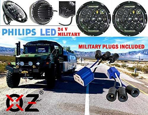"7"" OZ-USA 75w High Output Military LED Headlight 24, used for sale  Delivered anywhere in USA"