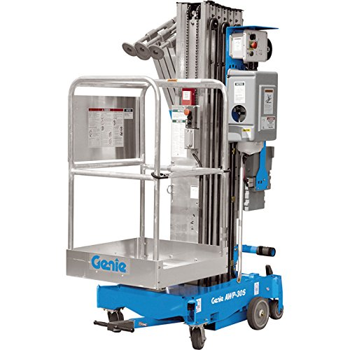 Genie DC Aerial Work Platform with Sliding Mid-Rail Entry - 30Ft.H, 350Lb. Capacity, Model# AWP 30 DC