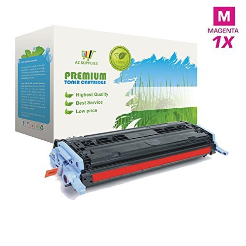 Cm1017mfp Magenta Toner - AZ Supplies Re-Manufactured Toner Cartridge Replacement for HP 124A, Q6003A for use in HP Color LaserJet 1600,2600, 2600n, 2600dn, 2605, 2605dn, 2605dtn CM1015MFP CM1017mfp Series Printers (Magenta).
