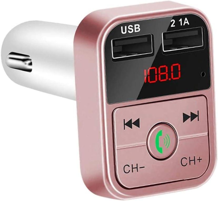 Apagado Autom/ático Oro Rosa CVC DMZ130RG Manos Libres Bluetooth Carb2 para Coche con Transmisor FM DAM Cancelaci/ón De Eco Y Supresion De Ruido