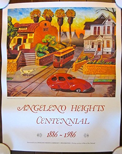 ORIGINAL ADVERTISING POSTER - ANGELENO HEIGHTS CENTENIAL - COOL COLORFUL - Height Steve Mcqueen Of
