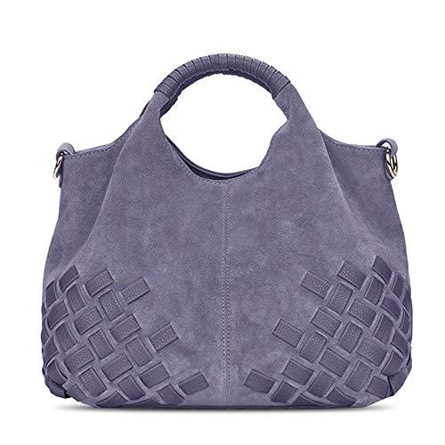 Grey Leather Handbags - 2