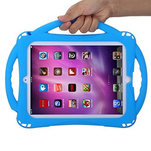 iPad mini 2nd,3 rd Generation iPad mini 4 Tablet,Turquoise ITC0388 TIRIN Kids Case for iPad mini 1/2/3/4,iPad mini kids case-Shock Proof Smart Handle Stand Kids Case Cover with lanyard for iPad mini