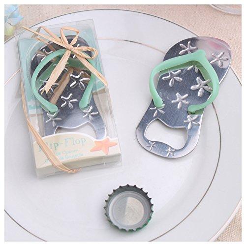 24pcs Special Flip-flop Bottle Opener Beach Bridal Shower for Wedding Favors-Set of 24 (24, Blue) (Favors Wedding Flip Flops)