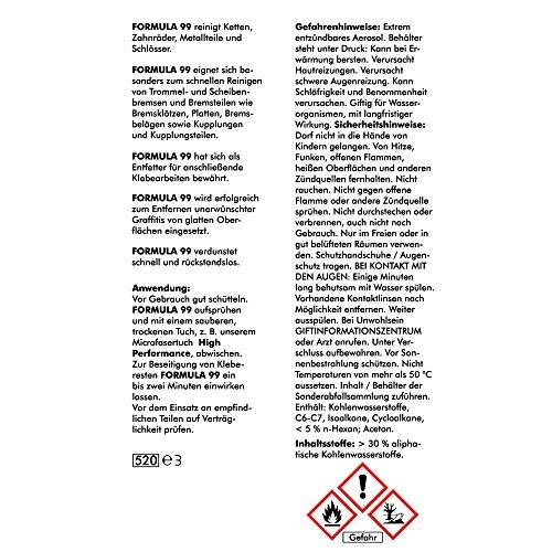 Abacus Formula 99 - 400 ml (3150) - Metal - Brake Cleaner Spray ...