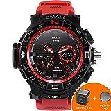 SMAEL Men's Sport Watch LED Digital Wristwach Multi-functional Men Clock Led Stopwatch S Shock 1531 Series (Red)