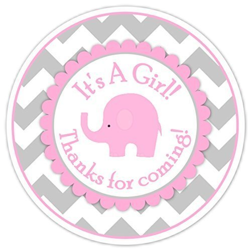 pink elephant pink and gray chevron elephant baby shower baby shower