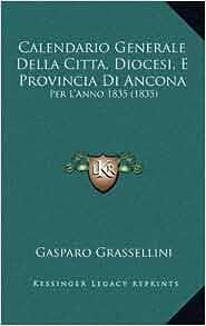 Calendario Generale Della Citta, Diocesi, E Provincia Di