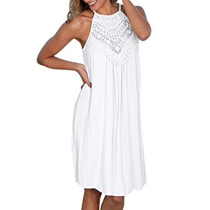 Wave166 Vestidos de Lunares con Estampado de Lunares para Mujer ...