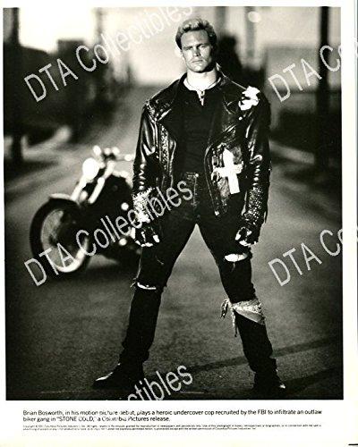 MOVIE PHOTO: STONE COLD-8X10-PROMO STILL-BRIAN BOSWORTH-ACTION-CRIME-DRAMA-1991 VG/FN