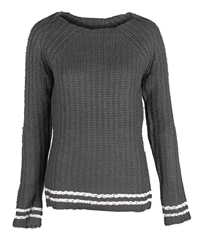 Long Sleeve Ribbed Cable Knit Sweater Top