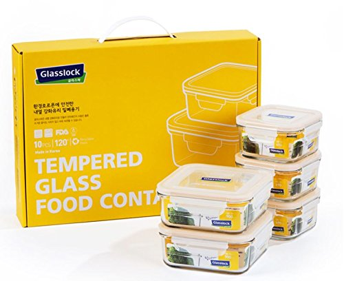 Price comparison product image Glasslock Tempered Glass Food Container 10pcs SET