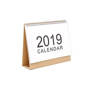 MEI YI Tian 2019 - Planificador de mesa, calendario de mesa, con ...