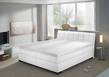 Estructura, cuero sintético blanco, 180 x 200 cm, cubre colchón, colchones de