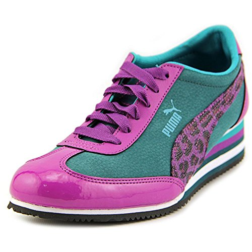 PUMA Women's Caroline Stripe Wedge Sneaker Deep Teal/Grape/Blue Grass Size 8 New