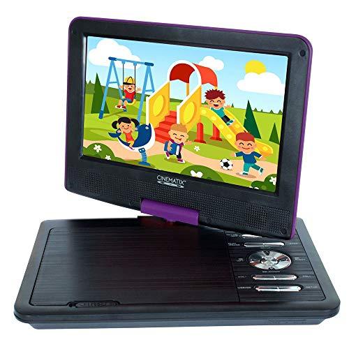 "Cinematix 9"" Portable DVD Player Purple 70166"