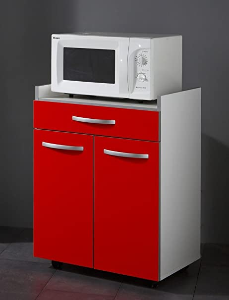 Mueble de cocina 60 x 82 x 45 cm Seamus 4 blanco rojo y gris ...