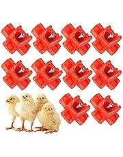 xiaohuangren 10 stycken kycklingdrycker fjäderfä vattenautomat hängande vattenautomat vattenbad dryck kycklingtillbehör horisontellt bifogat fjäderfä vattennippel 3,2 x 3,2 cm