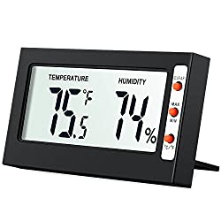 Amir Indoor Digital Hygrometer Thermometer Humidity Monitor With Temperature Gauge Humidity Meter Big Lcd Screen Multifunctional Hygrometer For Kids Home Car Office Etc Mini