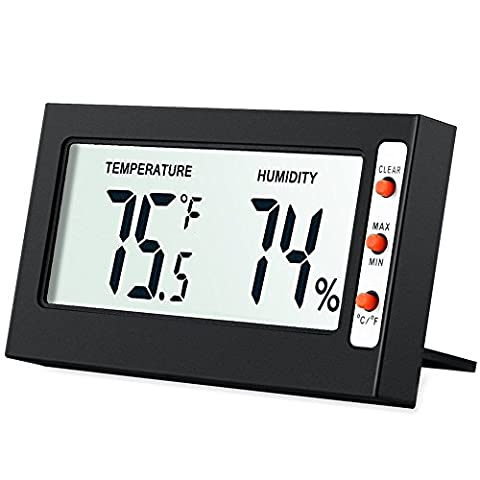 AMIR Indoor Digital Hygrometer Thermometer, Humidity Monitor with Temperature Gauge Humidity Meter, LCD Screen Multifunctional Hygrometer for Baby, Kids, Home, Car, Office, Etc. - Specialized Electronics
