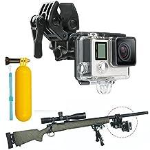 First2savvv GO-DYTZ-01BS Gun / Fishing Rod / Bow Fixing Clip Mount Sportsman Mount for GoPro HERO4 Session, HERO+ LCD, HERO4 Silver Black, HERO, HERO2, HERO3, HERO3+, HERO4, SJCAM SJ4000, SJCAM SJ5000, Xiaomi Yi + diving stick