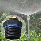 ValveRCA 1/2 Inch Adjustable Brass Spray Nozzle Garden Irrigation Micro Sprinkler