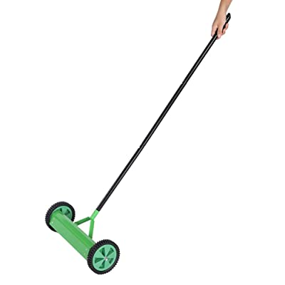 Lawn Aerator, Rolling Outdoor Garden Lawn Aerator Heavy Duty Steel Grass Roller with Long Handle: Home Improvement