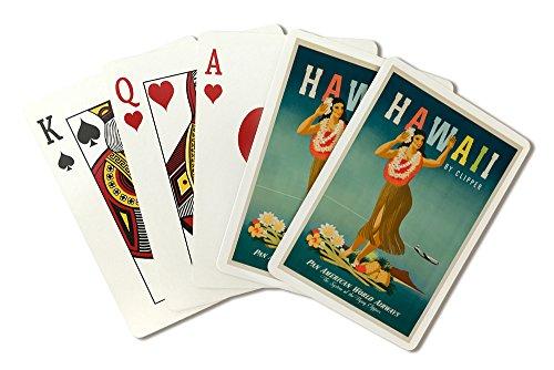usa-pan-am-hawaii-artist-atherton-c-1948-vintage-advertisement-playing-card-deck-52-card-poker-size-
