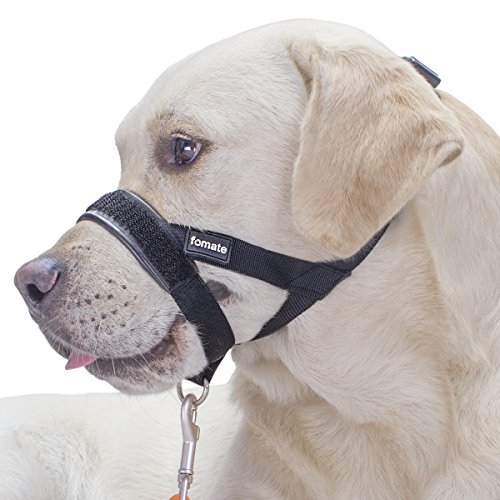 Dog muzzle, adjustable muzzles leader, quick fit stop pulling walk heel follow perfectly anti bitting head collar