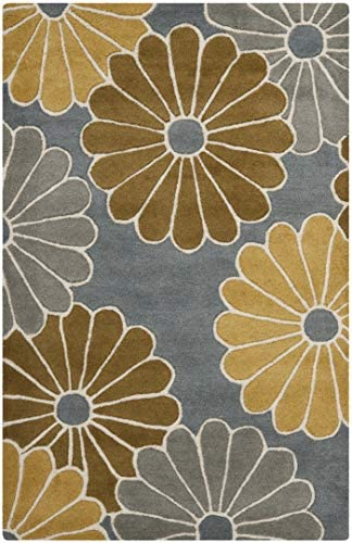 Safavieh Soho Collection SOH705A Handmade Grey and Yellow Premium Wool Area Rug 2 x 3