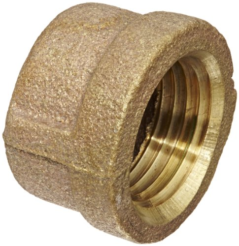 Anderson Metals 38108 Red Brass Pipe Fitting, Cap, 1/2