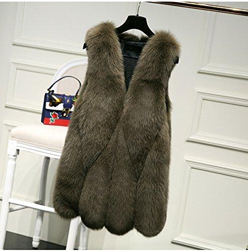 inverno di Verde della Womens Rivestimento FOLOBE del pelliccia delle del di cappotto donne faux 7fxazOwxq4