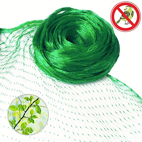 Anti-Bird Netting 13 Ft x 33 Ft Garden Plant Net Protect Fruits berry and Vegetable Rodents Against Birds New 0.6'' Square Mesh Size - Green by FittiDoll