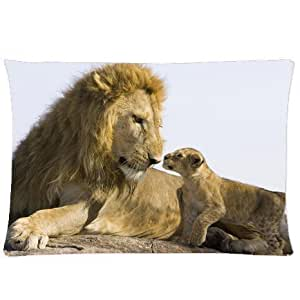 CCTUSGSH Family Affection Series A Good Choice For Mother's Day Or Father's Day Cotton Throw Pillow Case Decorative Cushion Cover 16 X 24 Inches One Side