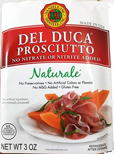 Del Duca Sliced Prosciutto No Nitrates - Gluten Free - 2 Pack