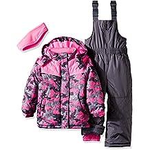 Pink Platinum girls Camo Heart Print Better Snowsuit
