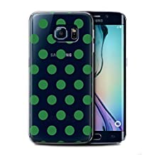 STUFF4 Phone Case / Cover for Samsung Galaxy S6 Edge / Emerald Design / Dotty Polka Dots Collection