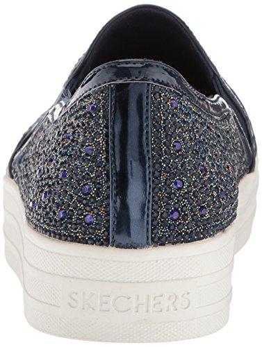 para sin GAL Mujer Up Double Cordones Azul Marino Skechers Zapatillas Glitzy ScHnWp