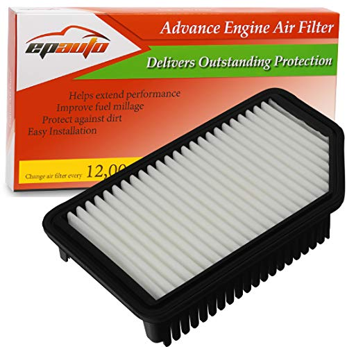 EPAuto GP206 (CA11206) Replacement for Hyundai/Kia Extra Guard Rigid Panel Air Filter for Accent (2012-2017), Veloster (2012-2017), Rio (2012-2017), Soul (2012-2018)
