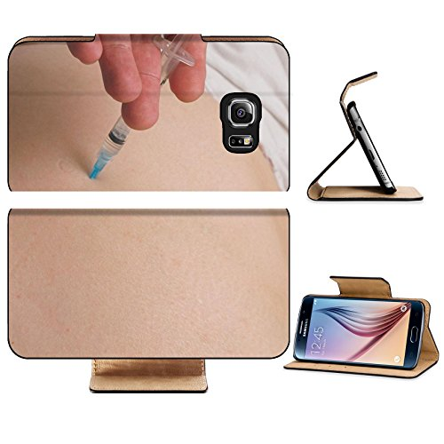 4g Syringe (Luxlady Premium Samsung Galaxy S6 Edge Flip Pu Leather Wallet Case IMAGE ID 1746844 A medical injection into a person s buttocks)