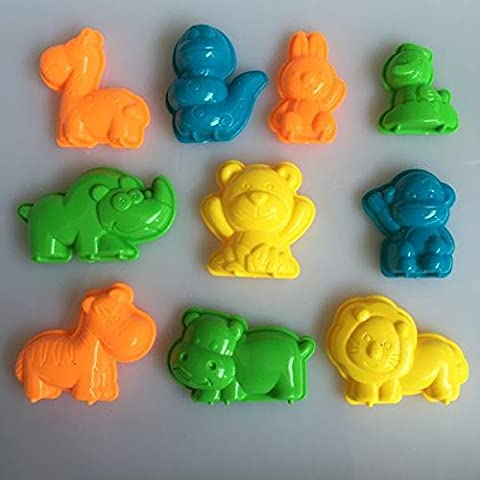 Magic Kinetic Motion Sand Classical Animals Play Doh Model Clay Mold for Kids