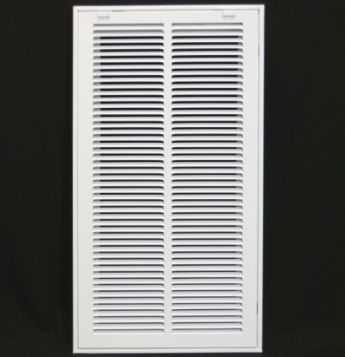12'' X 20 Steel Return Air Filter Grille for 1'' Filter - Removable Face/Door - HVAC DUCT COVER - Flat Stamped Face - White [Outer Dimensions: 14.5''w X 22.5''h] by HVAC Premium