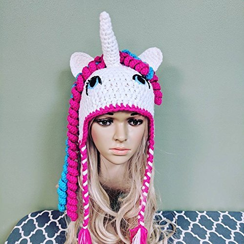 6ef63630bcf Image Unavailable. Image not available for. Color  Crochet Unicorn Hat ...