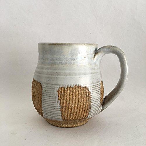 Textured Coffee Mug, Handmade Ceramic Coffee Mug, Pottery Mug TXJUN17M9 14 OZ