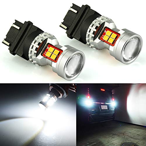 JDM ASTAR Extremely Bright High Power GX-3020 SMD 3056 3057 3156 3157 4057 4157 LED Bulbs with Projector, Xenon White