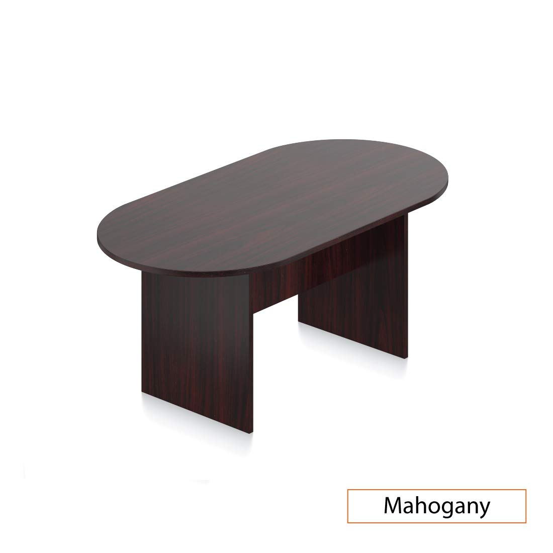 GOF 6FT, 8FT, 10FT Conference Table Chair (G11647B) Set, Dark Cherry, Espresso, Mahogany, Walnut, Artisan Grey (6FT, Mahogony)