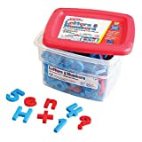 Educational Insights Alphamagnets and Mathmagnets Super Set, Color Coded