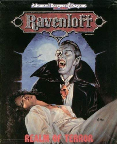 Ravenloft: Realm of Terror (AD&D 2nd Ed (144 Page Book / 4 Maps / Overlay / 24 Cardsheets - Overlays 4